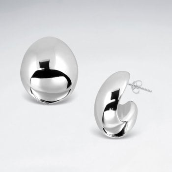 Bold and Chunky Sterling Silver Hoop Earrings