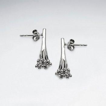 Bouquet of Glam Stud Drop Earrings in Sterling Silver