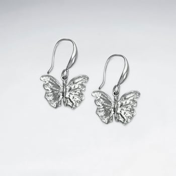 Brass Butterfly Hook Earrings