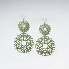 Brass Lacework Gradual Circular Dangle Earring