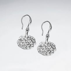 Brass Organic Filigree Earrings