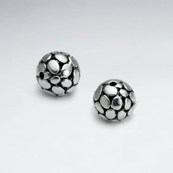 Brass Oxidized Flagstone Ball Bead Pack Of 5 Pieces