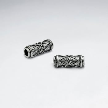 Brass Oxidized Ornate Spacer Bead Pack Of 5 Pieces