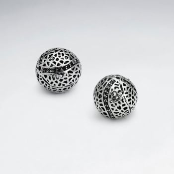 Brass Oxidized Perforated Ball Bead Pack Of 5 Pieces