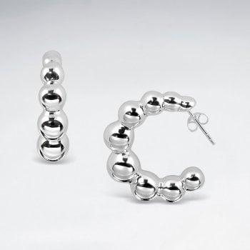 Bubble Sterling Silver Hoop Earrings