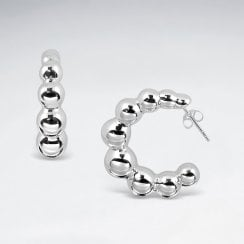 Bubble Sterling Silver Hoop Earrings
