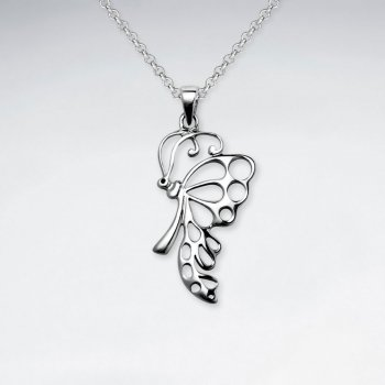 Butterfly Cutout Silver Pendant