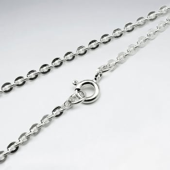 Cable Hammered 925 Silver Chain