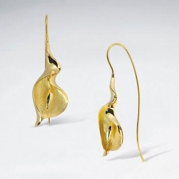 Calla Lily Drop Earrings in Sterling Silver