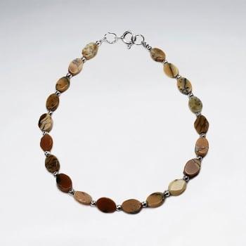 Cazy Lace Flat Stone Bead Bracelet