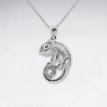 Chameleon Silver Pendant