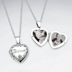 "Cherished Sterling Silver ""Best Mom"" Pendant Locket"
