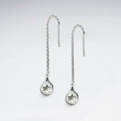 Chic Star Teardrop Suspended Chain Dangle Earrings
