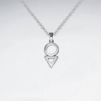 Circle and Triangle Openwork Tiered Pendant