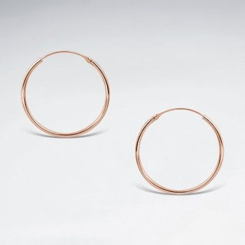 Classic Delicate 2 mm Round Tube Hoop Earrings in Silver