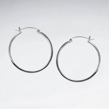 Classic Delicate Hoop Earrings in Silver
