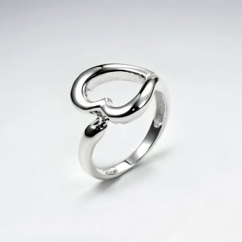 Classic Heart Cutout Sterling Silver Ring