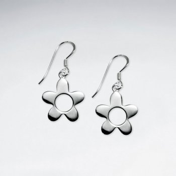 Classy Open Blossom Flower Drop Dangle Earrings