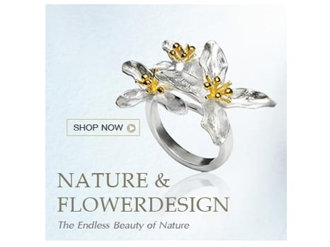 Wholesale Silver Jewelry  Flower Design Collection
