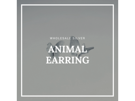 Wholesale Silver Animal Earring Design