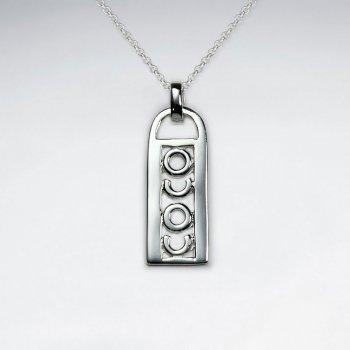 """""""Coco"""" Silver Zipper Pull Pendant"""