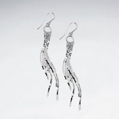 Couture Statement Dangle Earrings in Sterling Silver