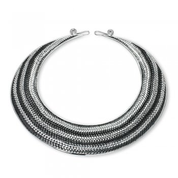 Covet Sterling Silver Basket-Weave Necklace