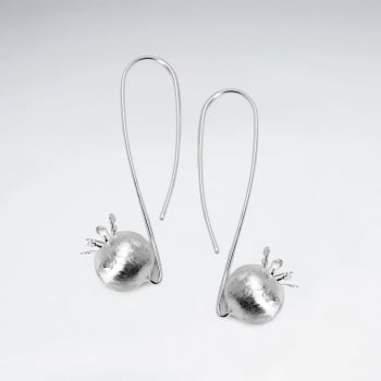 Crisscross Threader Sterling Silver Textured Ball Drop Earrings