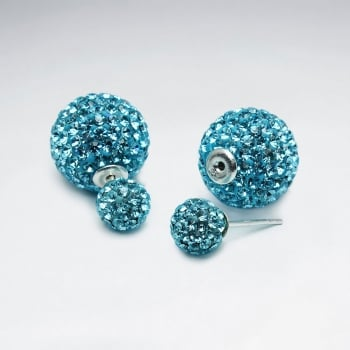 Crystal Optima Encrusted Multi Color Circle Shape Earrings