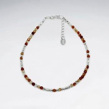 Dainty Carnelian Bead Bracelet