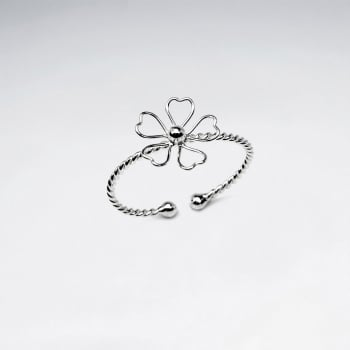 Dainty Delights Twist Band Openwork Flower Ring