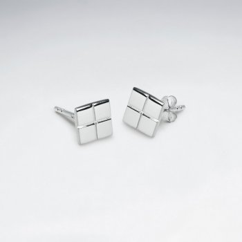 Dainty Geometric Flair Stud Earrings