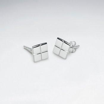 Dainty Geometric Flair Stud Earrings