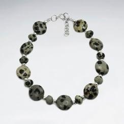 Dalmatine Jasper Irregular Bead Bracelet