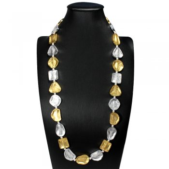 Daringly Inspired Chunky Duel Tone Necklace