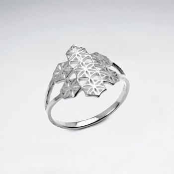 Delicate Snowflake Sterling Silver Ring