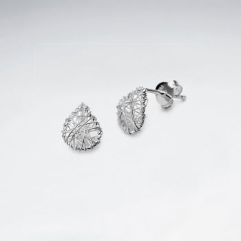 Delicate Teardrop Sterling Silver Wirework Stud Earrings