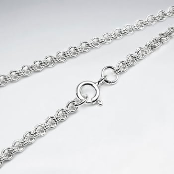 Double Cable 925 Silver Chain