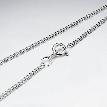 Double Hammered 925 Silver Chain