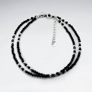 Double Strand Wrap Ball Bead Clasp Bracelet