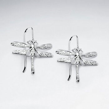 Dragonfly Silver Earring