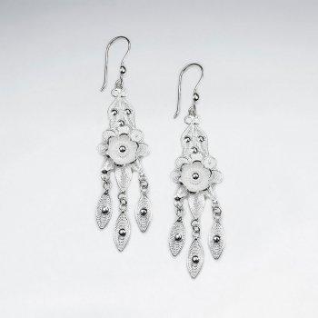 Dream Catcher Style Dangle Drop Chandelier Earrings