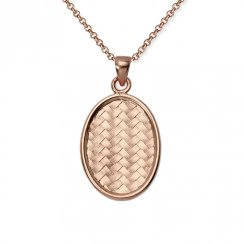 Dreamers Teardrop Basket Weave Pendant in Sterling Silver