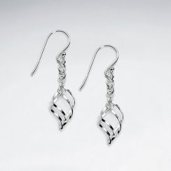 Edgy Organic Shape Open Design Suspended Dangle Hook Earrings