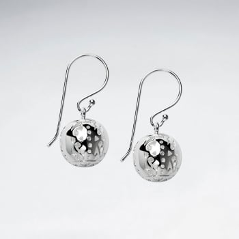 Egg-Shaped Dangle Drop Shepherds Hook Earrings