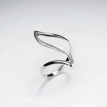 "Elaborate Silver ""Wave"" Ring"