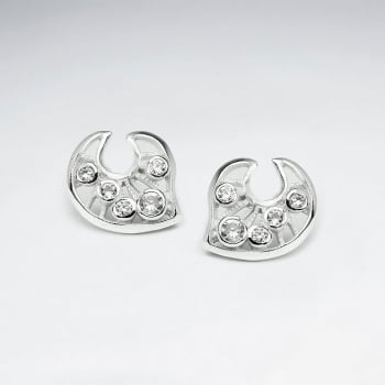 Elegant Empress CZ & Silver Earrings