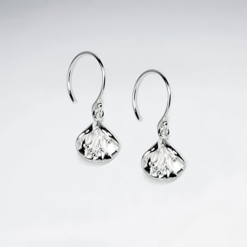 Elegant Glimmering Lily Blossom Sterling Silver Earrings