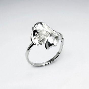 Elegant Lily Blossom Sterling Silver Ring