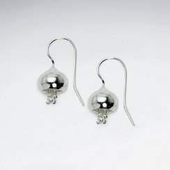 Elegant Silver Flower Inspired Drop Hook Earrings